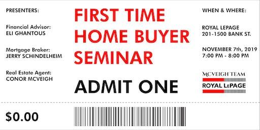 First Time Home Buyer Seminar Ottawa • Free • Nov