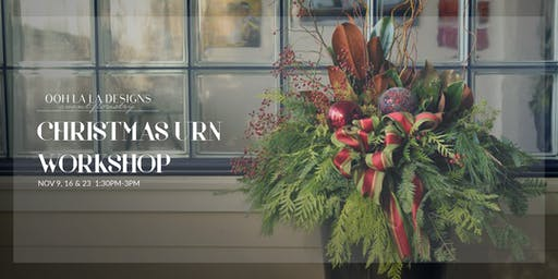 Christmas Urn Workshop
