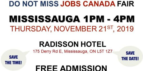 Mississauga Job Fair - November 21st, 2019 tickets