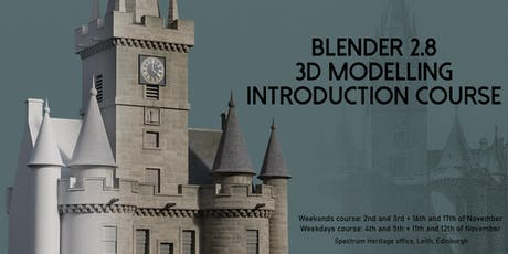 Blender 2.8 3D Modelling Introduction Course - Weekdays tickets