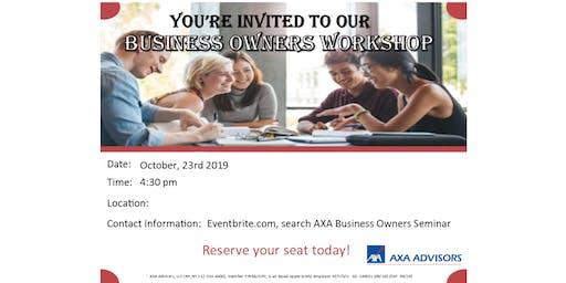 Professional Business Owner's Workshop
