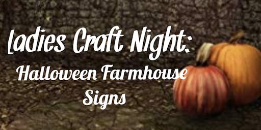Ladies Craft Night: Halloween Farmhouse Signs