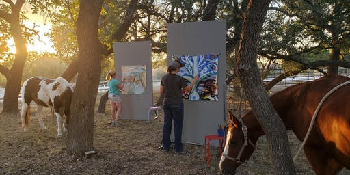 Intuitive Painting and Mindfulness Immersion Among Horses