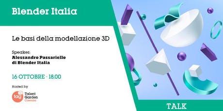 Le basi della modellazione 3D biglietti