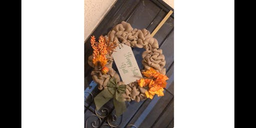 Happy Fall Yall Burlap Wreath