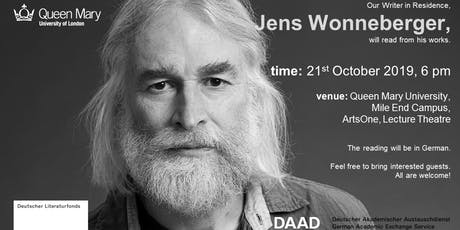 Reading of Jens Wonneberger, the current writer-in-residence at QMUL tickets