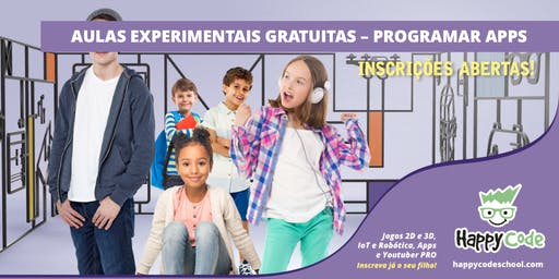 Aula Experimental Gratuita - Apps 7-14 anos (Happy Code Campo Ourique)