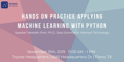 Machine Learning with Python: Hands On Workshop