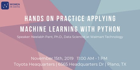 Machine Learning with Python: Hands On Workshop tickets