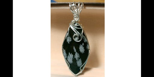 Holley's Wire Wrapping - Snowflake Obsidian Pendant