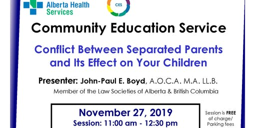 Conflict Between Separated Parents and Its Effect on Your Children