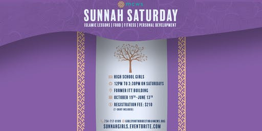 Girls High School Sunnah Saturday Registration 2019-2020