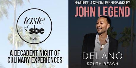 Taste of sbe | Miami tickets