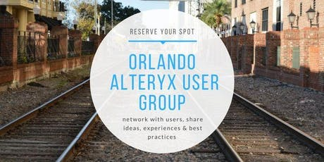 10.24.19 Orlando Alteryx User Group tickets