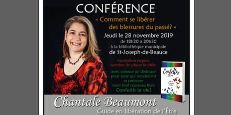 Conférence par Chantale Beaumont à St-Joseph-de-Beauce billets