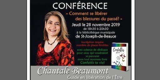 Conférence par Chantale Beaumont à St-Joseph-de-Beauce