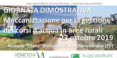 Meccanizzazione per la gestione dei corsi d'acqua in aree rurali