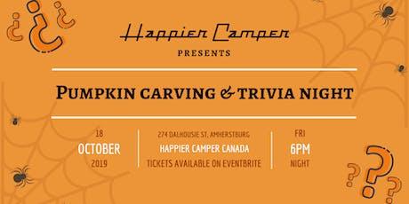 Pumpkin Carving & Trivia Night at Happier Camper tickets