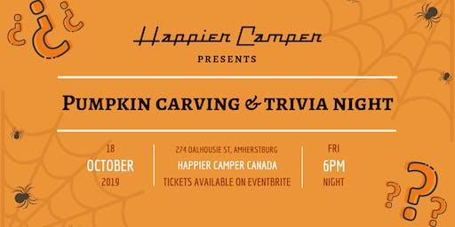Pumpkin Carving & Trivia Night at Happier Camper