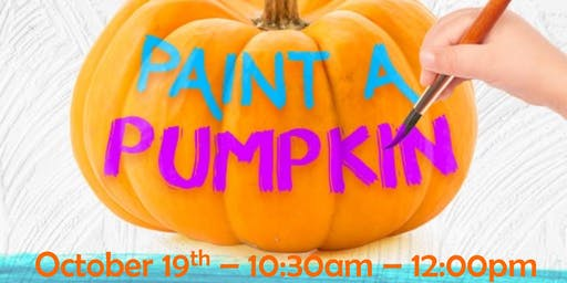 FREE Family Fun Event - Paint a Pumpkin