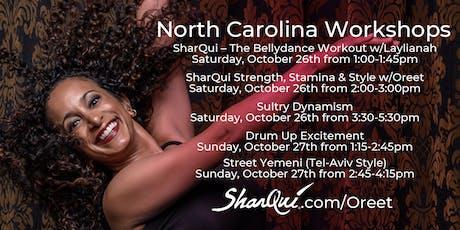 Bellydance Workshops w/Oreet in North Carolina tickets