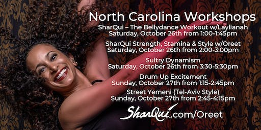 Bellydance Workshops w/Oreet in North Carolina