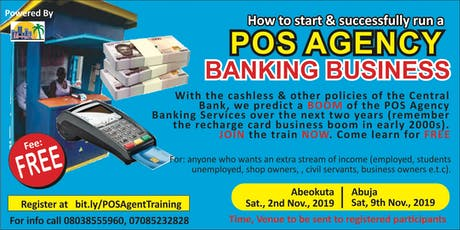 HOW TO START A POS AGENCY BANKING BUSINESS PROFITABLY. tickets