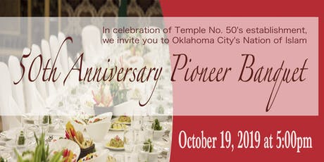 50th Anniversary Pioneer Banquet tickets