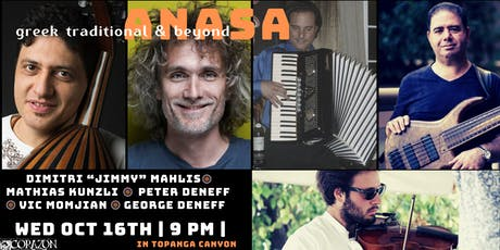 "ANASA: Greek Traditional & Beyond  Dimitris""Jimmy"" Mahlis  & Friends tickets"