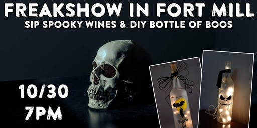 Freakshow in Fort Mill: Wine & Paint at The Lucky Duck