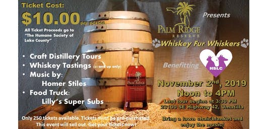 "Palm Ridge Whiskies presents ~ ""Whiskey Fur Whiskers"""