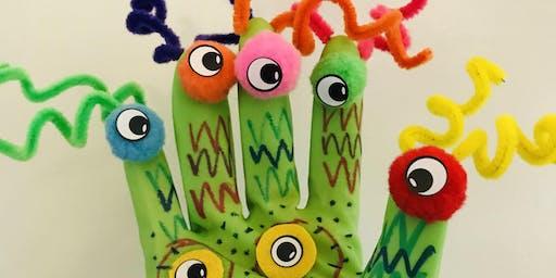 Monster Glove Puppet Workshop at LOAF. bakehouse