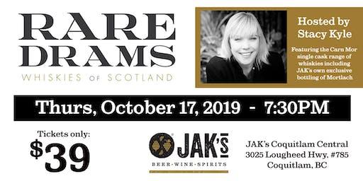 Rare Drams - Whiskies of Scotland Tasting event