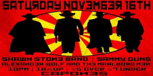 Shawn Stone band with Alexander wolf and the Marlboro Men , Sammy Guns