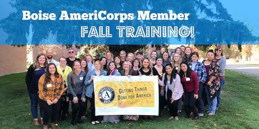 Boise AmeriCorps Member Fall Training