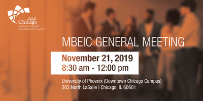 2019 Chicago MBEIC General Meeting