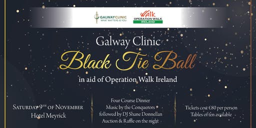 Galway Clinic Black Tie Ball for Operation Walk Ireland