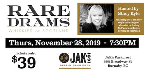 Rare Drams Whiskies of Scotland Tasting Event tickets