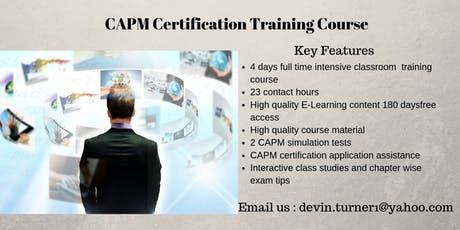 CAPM Certification Course in Owen Sound, ON tickets