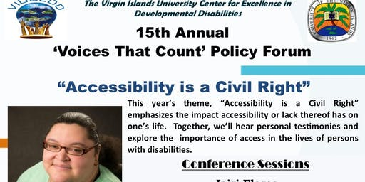 VIUCEDD's 15th Annual 'Voices That Count' Public Policy Forum- St Thomas