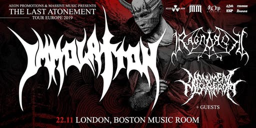 IMMOLATION/ RAGNAROK @ Boston Music Room, London