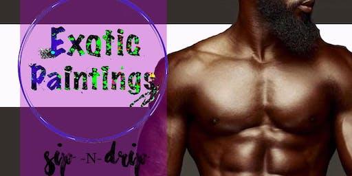 MEMPHIS EXOTIC PAINTINGS Saturday SIP N PAINT BYOB WITH NUDE Male MODELS