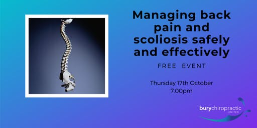 Managing back pain and scoliosis safely and effectively