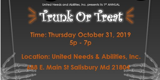 Trunk or Treat with United Needs & Abilities