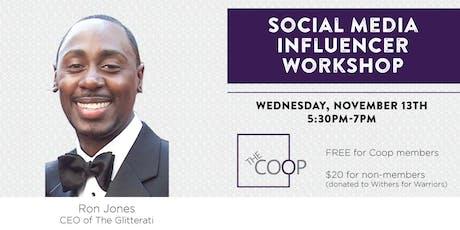 Social Media Influencer Workshop tickets