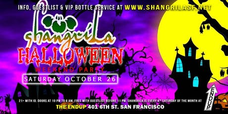 ShangriLa Halloween Weekend Party - Saturday October 26th 2019 tickets