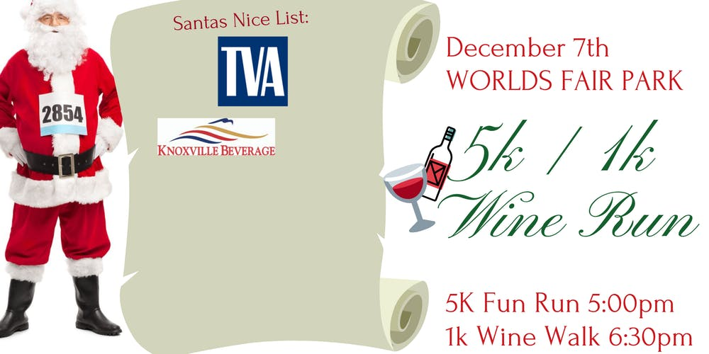Christmas Run Park.Christmas 5k 1k Wine Run Tickets Sat Dec 7 2019 At 5 00