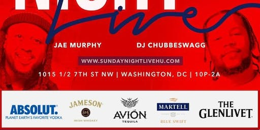 Sunday Night Live (NO WORK MONDAY)  ft. Jae Murphy (Howard Homecoming)