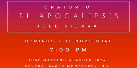 """Oratorio """"El Apocalipsis"""" en concierto entradas"""