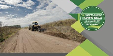 IV Congreso Argentino de Caminos Rurales entradas